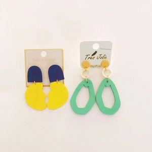 80's styled fashion earrings✨Brand New!